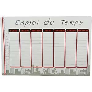 New York - Tableau Magnet Frigo Planning Emploi du Temps Business New York Building