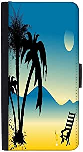Snoogg Summer Background Graphic Snap On Hard Back Leather + Pc Flip Cover Ht...