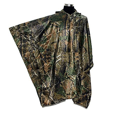 loogu Military Multifunktions Realtree Camouflage Wasserdicht Regen Poncho für Erwachsene (Camouflage-anzug Für Die Jagd)