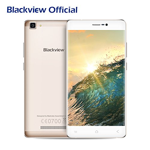 "Telefono Cellulare in Offerta, Blackview A8 MAX Dual SIM Smartphone, 2GB RAM + 16GB ROM 3000mAh Batteria IPS 5.5"" HD Camera 5.0MP + 8.0M 4G Smartphone in Offerta, Android 6.0/ GPS/ WiFi/ Bluetooth 4.0/ FM- Oro"