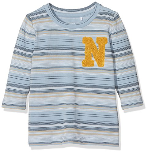 NAME IT Baby-Jungen Langarmshirt Nbmlaban LS Top, Mehrfarbig (Dusty Blue), 62