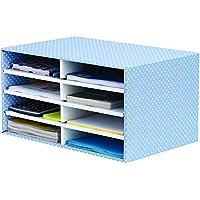 Bankers Box Style - Clasificador de sobremesa, azul y blanco