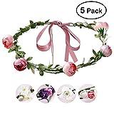 Blumenkranz, ETEREAUTY Blumenkrone Girlande Haarband, für Festival Hochzeit Party