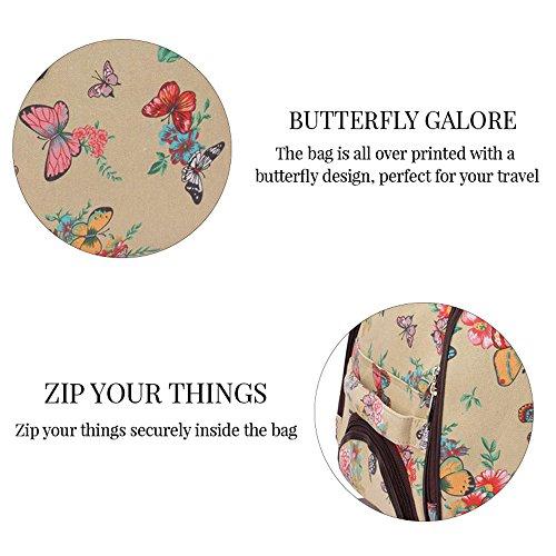 TrendStar Damen Reisetasche Taschen Handgepäck Frauen Schmetterling Wochenende rollig Handtasche C - Navy