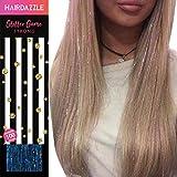 Wasserglitzer Haarsträhnen (100) - HAIR DAZZLE - Sommer, Zubehör für Festival-Haare für Mädchen, glitzernde Haarverlängerung, Bälle, Glitzer-Partys