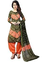 MEGHALYA Women's Satin Cotton Dress Material (V Batik Cotton Dress-4003)