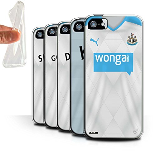 Offiziell Newcastle United FC Hülle / Gel TPU Case für Apple iPhone SE / Pack 29pcs Muster / NUFC Trikot Away 15/16 Kollektion Pack 29pcs