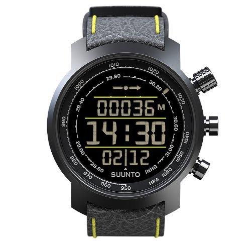 Suunto Elementum Terra Leather Watch - Black/Yellow by Suunto