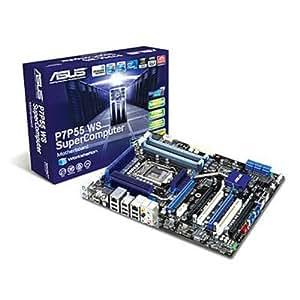 ASUS P7P55 WS SuperComputer Carte-mère ATX iP55 LGA1156 Socket SATA-300 (RAID) 2 x Gigabit Ethernet FireWire audio HD (8 canaux)