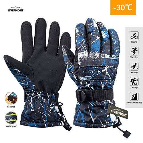 Overmont Guantes Unisex esquí Impermeable térmica