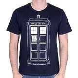 Photo de Doctor Who T-Shirt Homme Tardis Contour de la Série Coton Bleu par Doctor Who