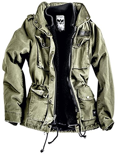 Black Premium by EMP Ladies Army Field Jacket Giacca donna verde oliva XS