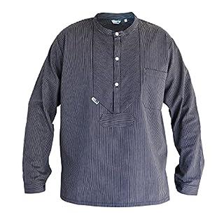 Modas Finkenwerder Fischerhemd BasicLine schmal gestreift, Größe:XXXL