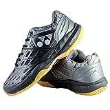 Yonex Court Ace Matrix 2 Black/Gunmetal Non Marking Badminton Shoes (Synthetic, UK-8)