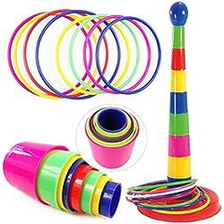TOYMYTOY Ring Toss Jeu Plastic Intelligence Développement Parent-enfant Sport Jeu Fun Family Jeux pour les enfants et les adultes