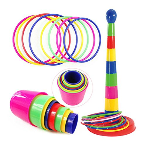 TOYMYTOY Ring Toss Game Plastic Intelligence Development Juego de deportes para padres...