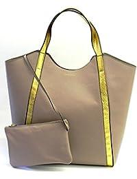 COCCINELLE Tasche Jason Gold Damen samt-Gold - C1WQ1110201694