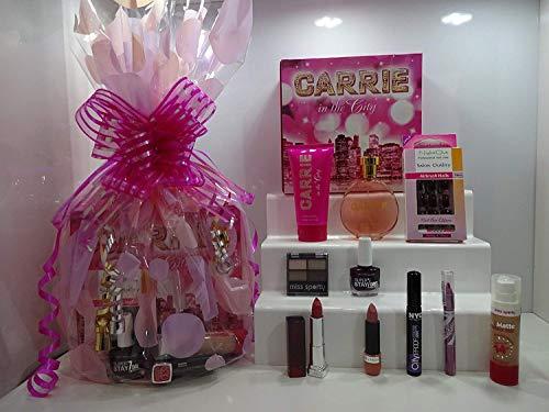 Cyber Monday Sale ~ 10pc Parfum et maquillage Panier cadeau pour elle ~ Parfum Set + Make Up + ongles + cils Panier cadeau