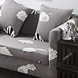 JY$ ZB Solid Color Tight All-inclusive Sofa Towel Slipcover Stretch Fabric Elastic Sofa Cover Single / Two / Three / Four-seater Home Decor , 1 , 90*140single seat