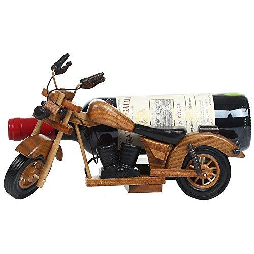 ADFHGFJ Kreative Motorrad Holz Weinregal Dekoration Holz Flaschenhalter Vintage Dekoration Weinregal Handwerk