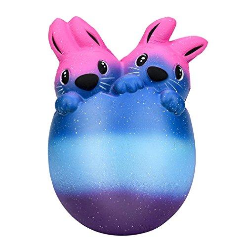 11cm Galaxy Bunny Ei Squishy Spielzeug, mamum 15cm Squishy Ostern Bunny Ei Duft langsam Rising Squeeze sammeln Ostern Geschenk
