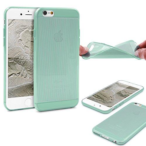 Urcover® Apple iPhone 6 / 6s Hülle Hell Blau / Transparent [ Flexibel ] Handy Schutz-Hülle TPU Cover Schale Silikon-hülle Back-Case Smartphone Zubehör Tasche Grün / Transparent