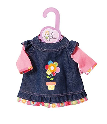 Zapf Creation 870013 - Dolly Moda Jeanskleid, 30-36 cm