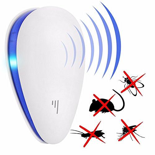 TechCode 4 Stücke Schädlingsbekämpfer, Ultraschall Elektronische Schädlingsbekämpfer Repels Mäuse Bett Wanzen Mücken Spinnen Abwehrmittel für Home-Office Schädlingsbekämpfung (02-4PCS)