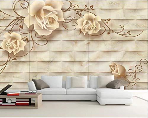 Tapeten Wohnzimmer-Wandgemälde Der Keramischen Fliese Der Kunst 3D Der Tapete Der Tapete Kundenspezifische Wohnzimmermalerei Fernsehhintergrundtapete 3D -
