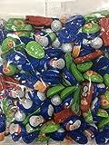 Solid Milk Chocolate Foil Christmas Shapes (Snowman, Santa, Reindeer,Snowball,Little Children) 1KG Bag