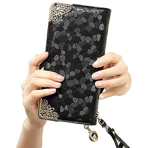 Uming® Colorful Fashion Variopinta moda PU delle donna della borsa borsa del portafoglio signora Clutch Wallet Purse borsetta Zipper Card Slots Pouch Handbag