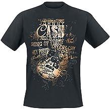 Johnny Cash Lyrics T-Shirt schwarz