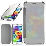 MoEx Samsung Galaxy S5 | Hülle Transparent TPU [OneFlow Void Cover] Dünne Schutzhülle Silber Handyhülle für Samsung Galaxy S5 / S5 Neo Case Ultra-Slim Handy-Tasche mit Sicht-Fenster