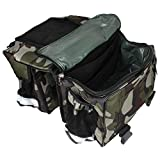 #1: Auto Hub Waterproof Jungle Print Bike Twin Saddle Bags
