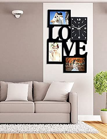 Horloge murale avec fonction Fashion Frame Amour Photo