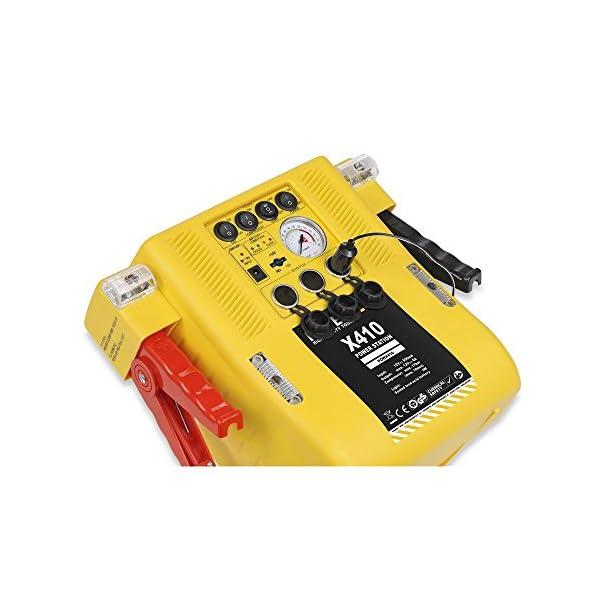 POWERPLUS POWX410 Arrancador de baterías multifunción 4 en 1, 12 V