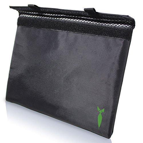 Diskreter Smoker Geruchs-Beutel, 11 x 23 cm, für alle Ihre Gerüche, Zigarettenpapier, Mühle und Rolltablett 11x9 schwarz