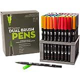Tombow Werkzeugkoffen Ratschenkasten Dual Brush Marker Set mit Schreibtisch Ständer