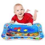 Aufblasbare Wassermatte für Babys, Tummy Time Wassermatte für Säuglinge und Kleinkinder Fun Play Activity - Auslaufsichere BPA-freie Wassermatte für das Stimulationswachstum des Babys (ab 3 Monaten)