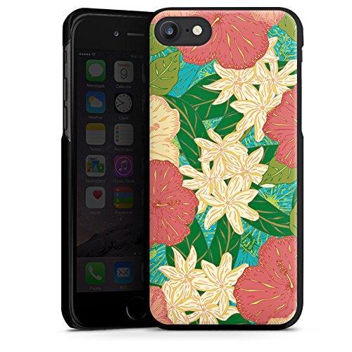 Apple iPhone X Silikon Hülle Case Schutzhülle Blumen Muster watercolor Hard Case schwarz