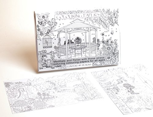Adult Colouring Papers Pages Pattern Anti Stress Therapy Perfect Garden Design A4