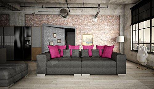 Sofa Bonn mini, Moderne und Groß Couch, Sofagarnitur, Couchgarnitur, Bigsofa vom Hersteller, Wohlandschaft, Microfaser (Hermes 6408 + Lumia 110) - 2