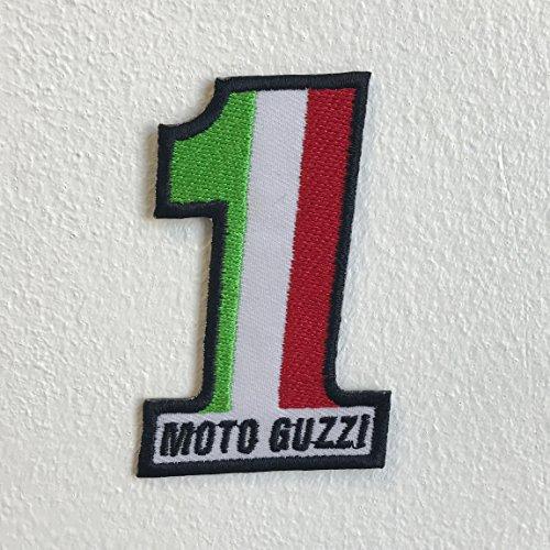 Italienisches Motorrad Flagge Moto Guzzi 1Eisen nähen auf bestickt Patch