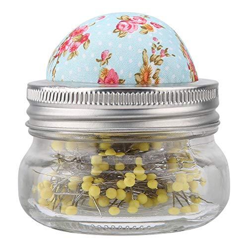 Garosa Nähen Nadelkissen Glasflasche Runde Perle Große Edelstahlnadeln Halter DIY Nähzeug Perfekt für Hauptdekoration