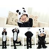 Très Chic Mailanda Unisex Erwachsene Schlafanzug Karneval Tier Cosplay Plüschtier Kapuzenkostüm(Panda) -