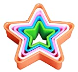 Plätzchen-Form-Backen-Form von Obst und Gemüse Stern