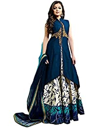 Dresses And Dress Materials For Women's Silk Cotton Fit Embroidery Dress Material Party Wear And Regular Casual...