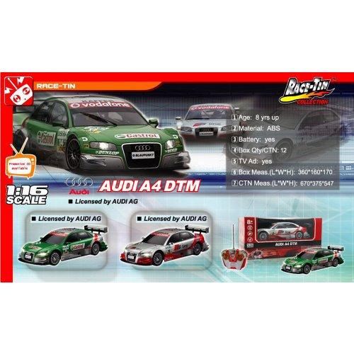 RC Auto kaufen Tourenwagen Bild 3: Audi A4 DTM RC ferngesteuertes Lizenz Fahrzeug im Original Design, Modell Ma stab 1 16, Ready to Drive, Auto inkl Fernsteuerung*