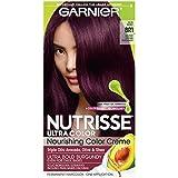 Garnier Hair Color Nutrisse Ultra Color Nourishing Color Creme, Br1 Deepest Intense Burgundy (Packaging May Vary)
