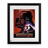 Framed Darth Vader Signed Revenge Of The Jedi Poster